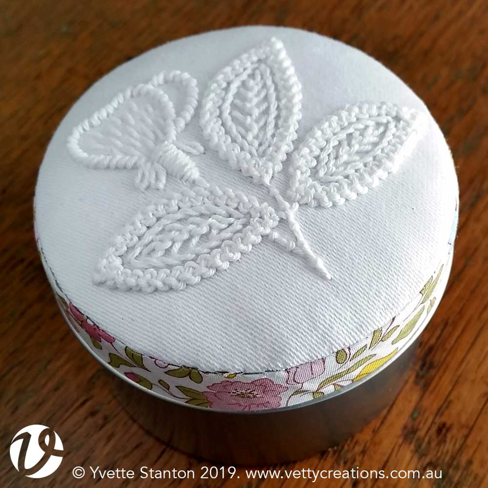 Hardanger embroidery tin kit