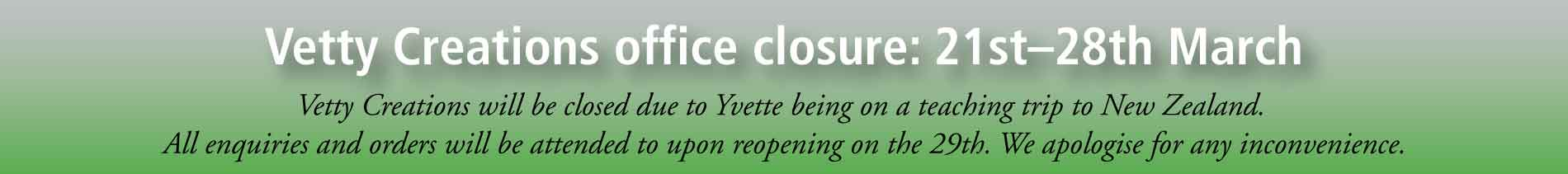 office closure 21-28 March