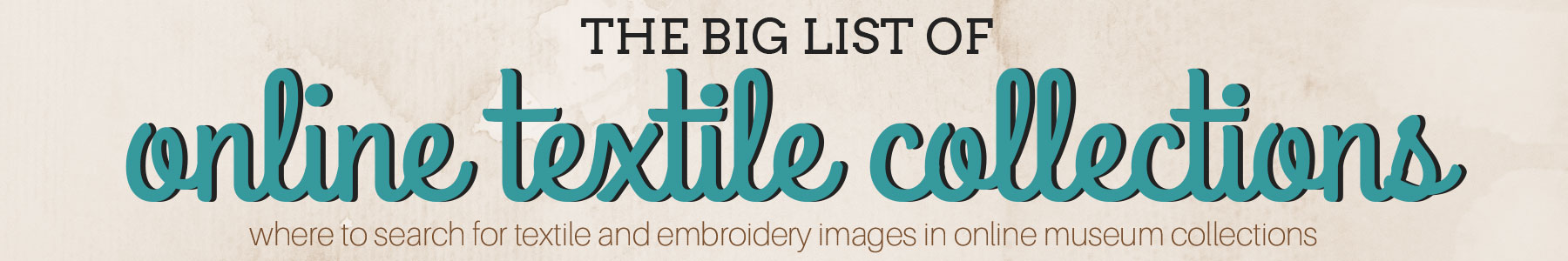 The big list of online textile collections