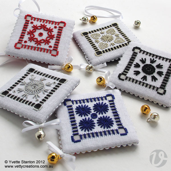 Portuguese Whitework ornaments
